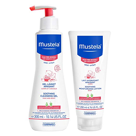 Mustela Baby Bath Time Gift Set for Sensitive Skin