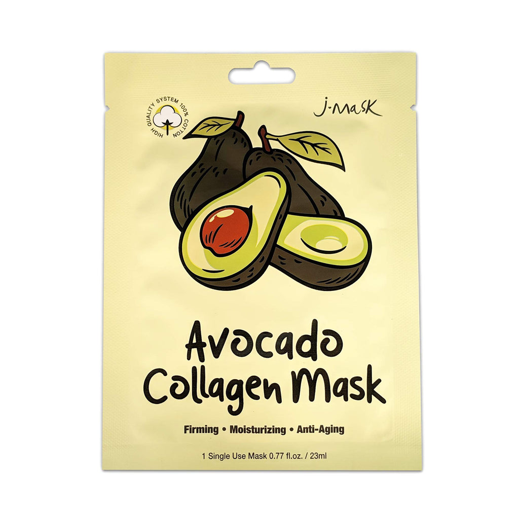 J Mask Avocado Korean Collagen Face Sheet Mask (10 Pack)