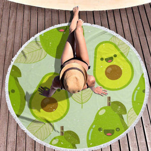 Avocado XL Round Pool Beach Towel Blanket (Perfect for 2)