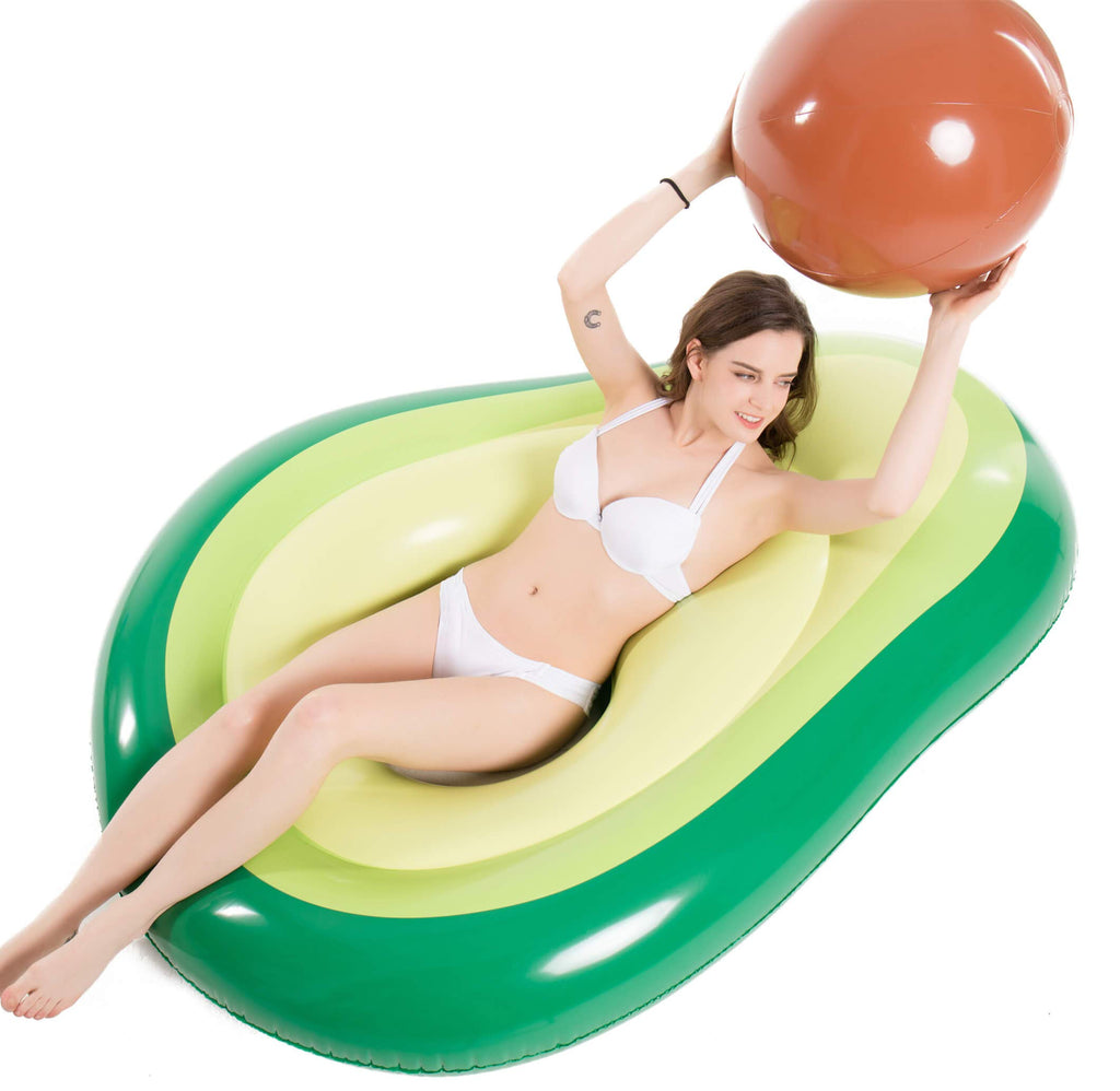 Jasonwell Inflatable Avocado Pool Float Floatie with Ball