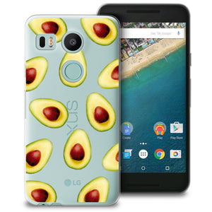 CasesByLorraine Avocado Phone Case For LG Nexus 5X Soft Case