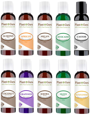Top 10 Cold Pressed Carrier Oil Variety Set: 2 oz