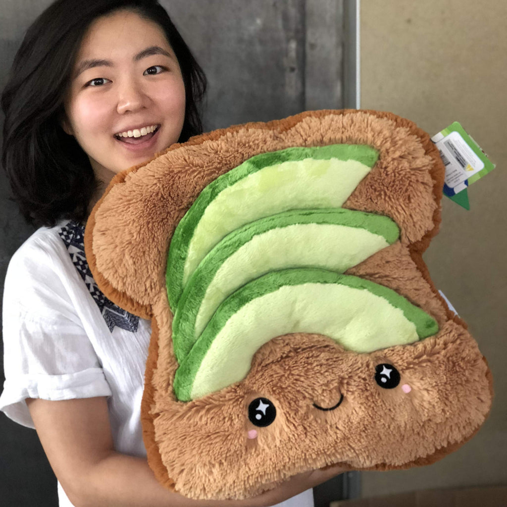 Squishable Avocado Toast Soft Toy Plush: 15""