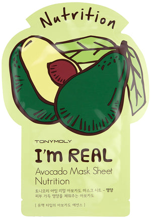 TONYMOLY Avocado I'm Real Avocado Face Mask Sheet