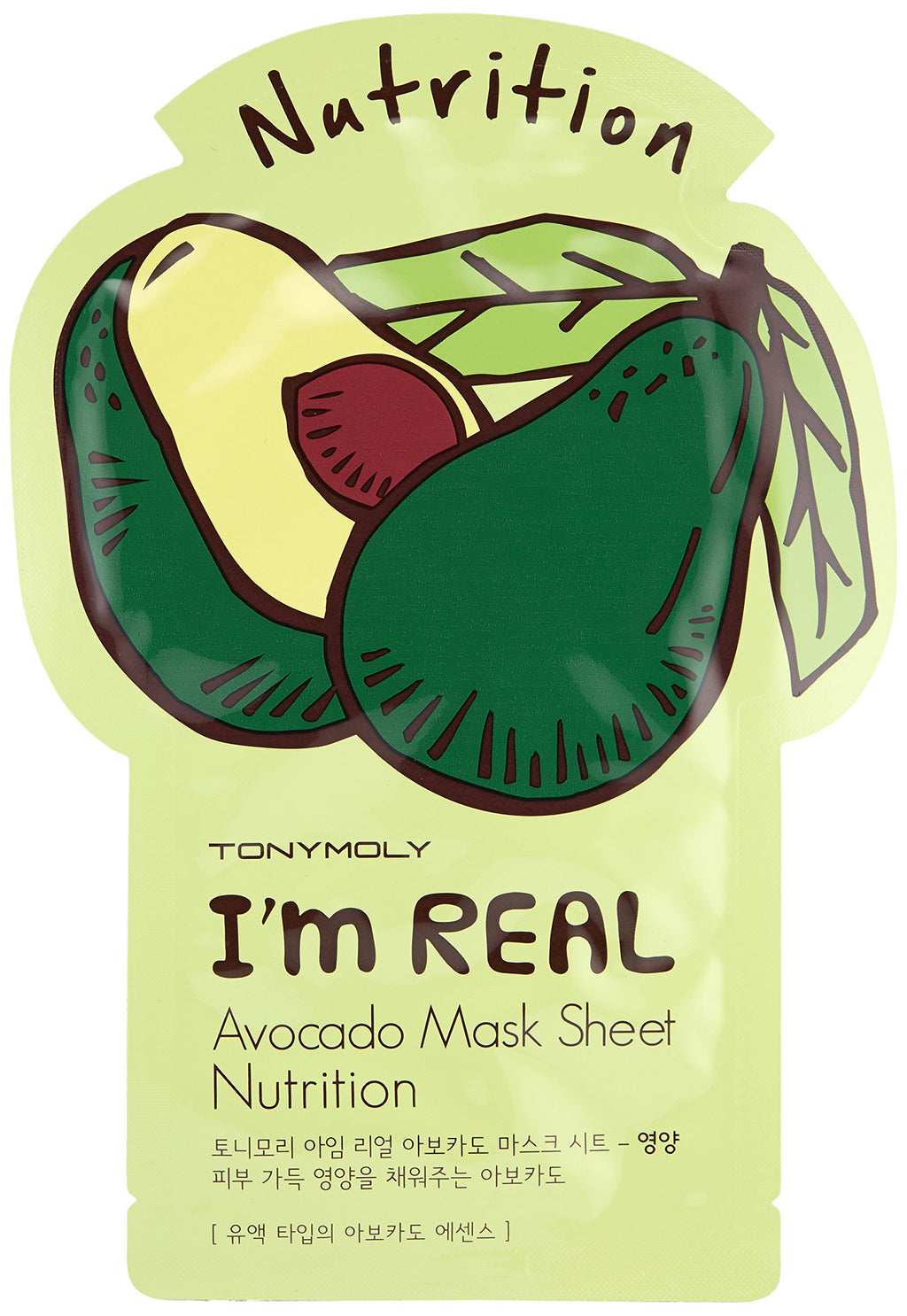 TONYMOLY Avocado I'm Real Avocado Face Mask Sheet (10 Pack)