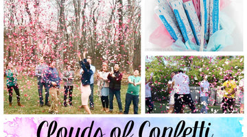 Clouds of Confetti - A Gender Reveal Party Idea