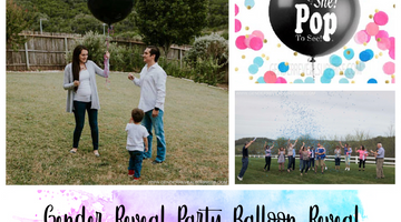 Gender Reveal Party Balloon Reveal