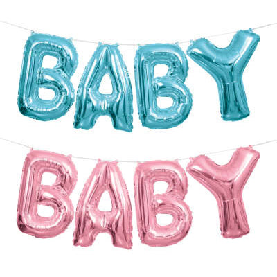 Baby Foil Balloon Banner Kit
