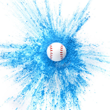 Hit a homerun and reveal it's a boy by incorporating our blue gender reveal baseball into your gender reveal