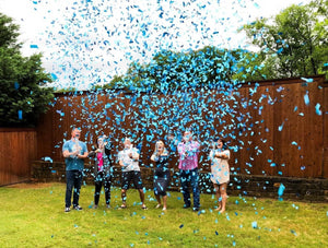 "18"" Blue Gender Reveal Confetti Cannons Case 25/1"