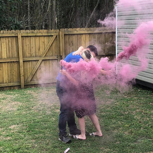 Pink Handheld Gender Reveal Smoke Bomb