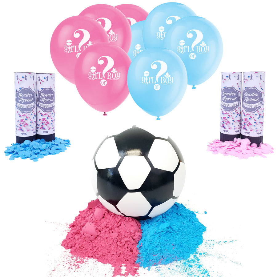Gender Reveal Soccer Ball Party Package