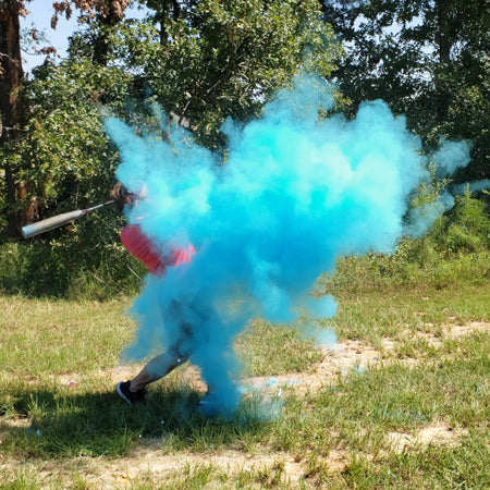 Blue Gender Reveal Powder Baseball