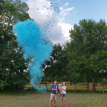 "18"" Blue Gender Reveal Powder and Confetti Cannons Case 25/1"