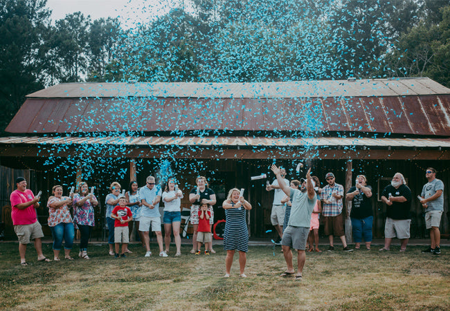 "12"" Blue Gender Reveal Confetti Cannons Case 25/1"