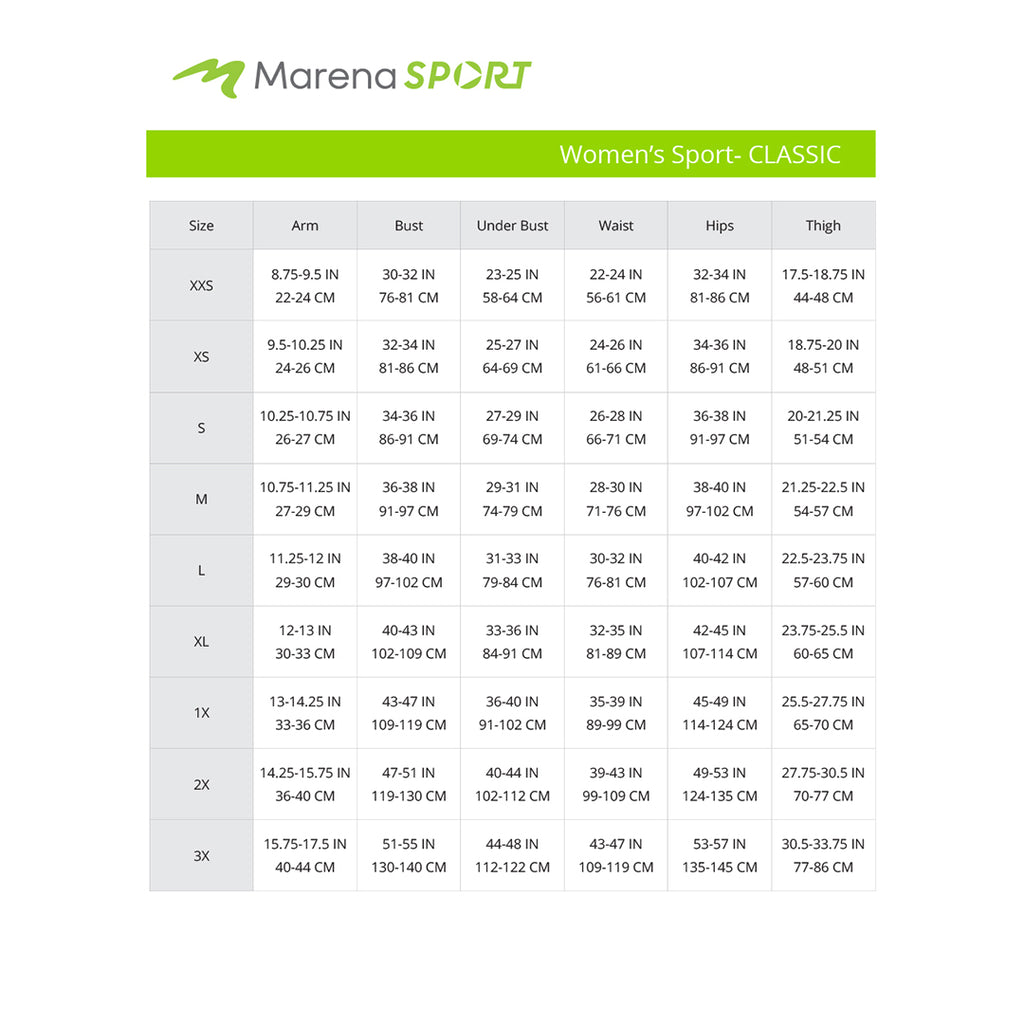 Sport Women's Classic-all-size chart