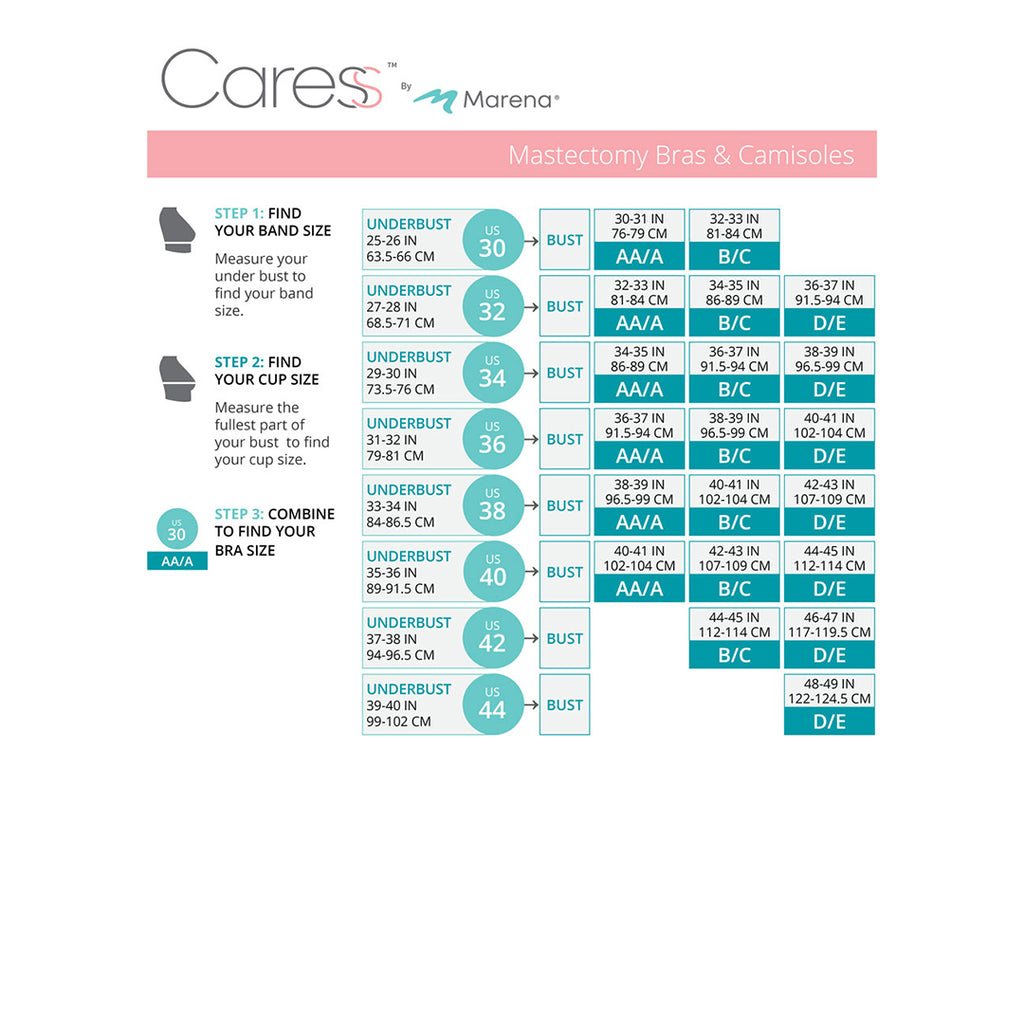 Caress Size Chart- CAR-815P-11