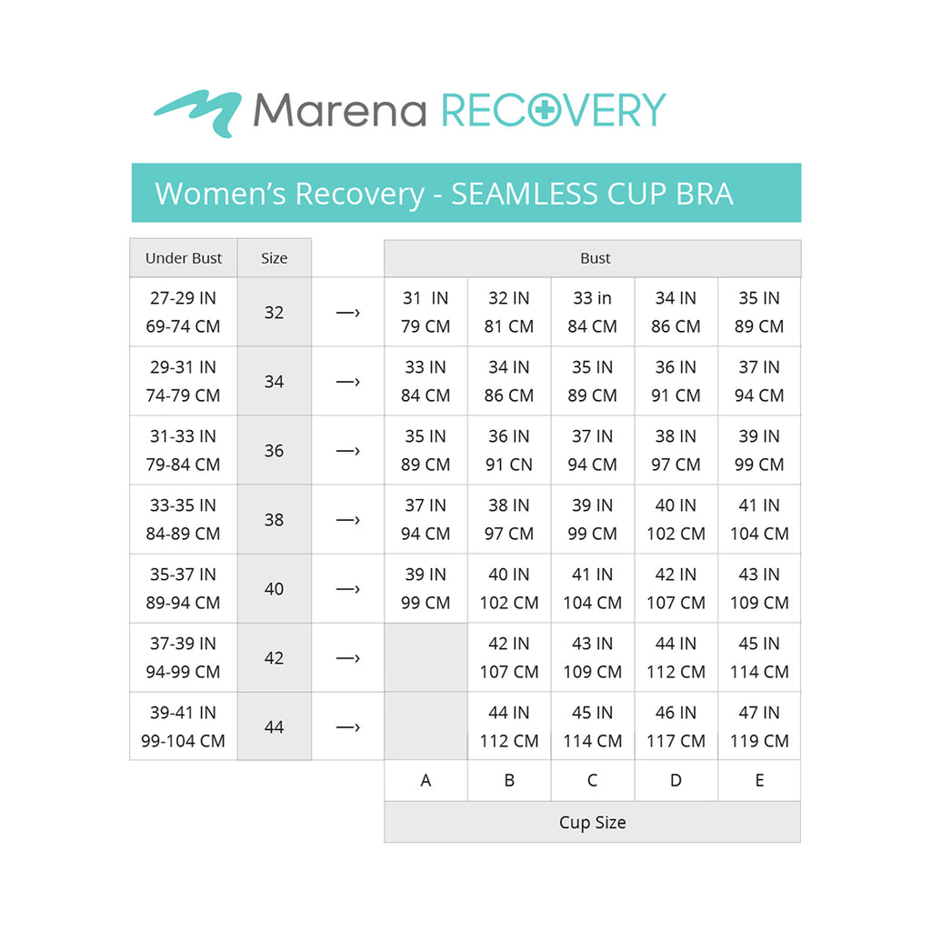 Women's_Recovery-Seamless cup bra-size chart