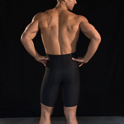 Marena Sport 625 Compression Shorts back pose, in black
