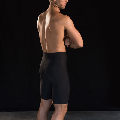 Marena Sport style 625 Compression Shorts side pose, in black