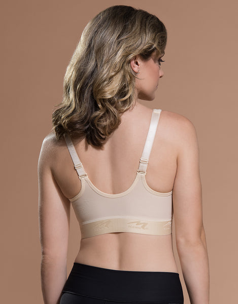 Marena Recovery B11 bra back view in beige.