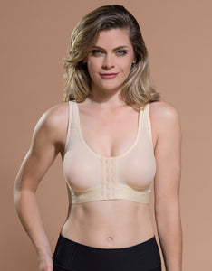Marena Recovery B11 bra front view in beige.