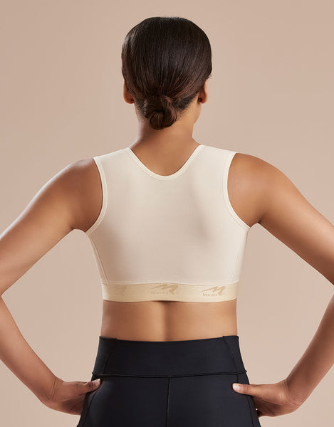 Marena Recovery B16 bra back view in beige.
