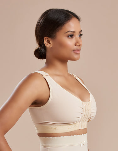 Marena Recovery B2 bra side view in beige.