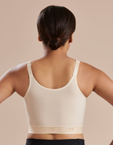 Marena Recovery BNRZ bra back view in beige.