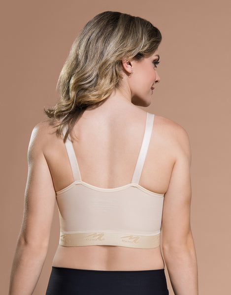 Marena Recovery BNVL bra back view in beige.