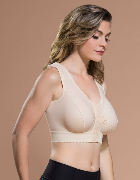 Marena Recovery BR bra side view in beige.