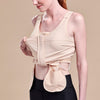 Caress by Marena Pocketed Drain Bulb Management Mastectomy Camisole with front zipper, Drain Bulb Pouch View, beige