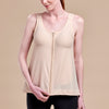 Caress by Marena Pocketed Drain Bulb Management Masectomy Camisole with front zipper, front view, beige