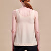 Caress by Marena Post-Mastectomy Camisole, back view, in beige
