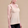 Caress by Marena Post-Mastectomy Camisole, side view, in beige