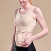 Caress by Marena Mastectomy Pocketed Drain Bulb Management Bra, side view, beige
