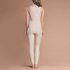 Marena Recovery style FBL ankle-length compression girdle, back view in beige.