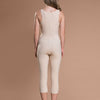 Marena Recovery style FBM calf-length compression girdle, back view in beige.