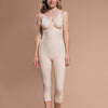 Marena Recovery FBM calf-length compression girdle front view in beige.