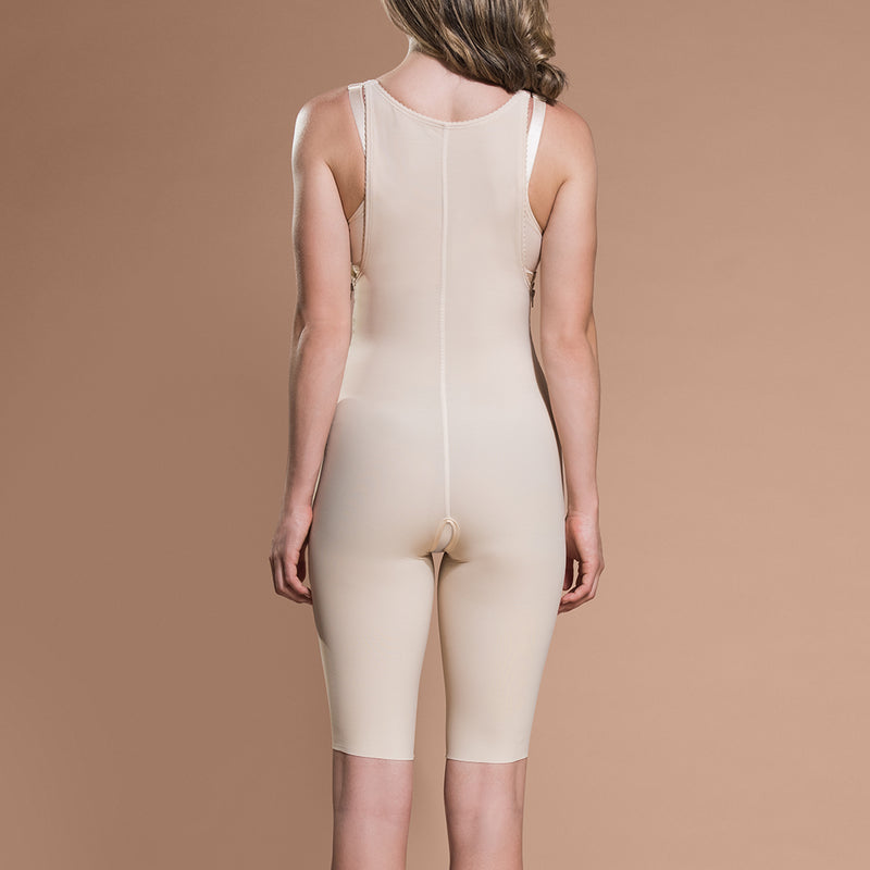Marena Recovery FBS short-length compression girdle front view in beige.