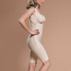 Marena Recovery FBS short-length compression girdle,  side zipper view in beige.