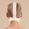 Marena Recovery FM100-A compression face mask back view in beige showing adjustable velcro closure.