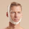 Marena Recovery FM100-A compression face mask front view in beige showing a male model.