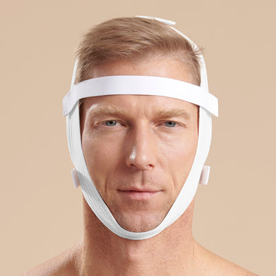 Marena Recovery style FM410 universal face wrap, front view shown on male model