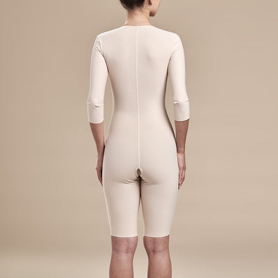 Marena Recovery, style FTRS/SM Compression Bodysuit, back view, in beige