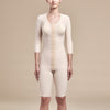 Marena Recovery, style FTRS/SM Compression Bodysuit, front view, in beige