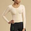 Marena Recovery FV2L long sleeve compression vest front view in beige