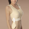 Marena Recovery style FVNSP sleeveless compression vest with pouch, side view in beige