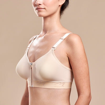 FlexFit™ Ultra Low Coverage Zip-Front Bra - Style NSide o. B09Z view, in beige