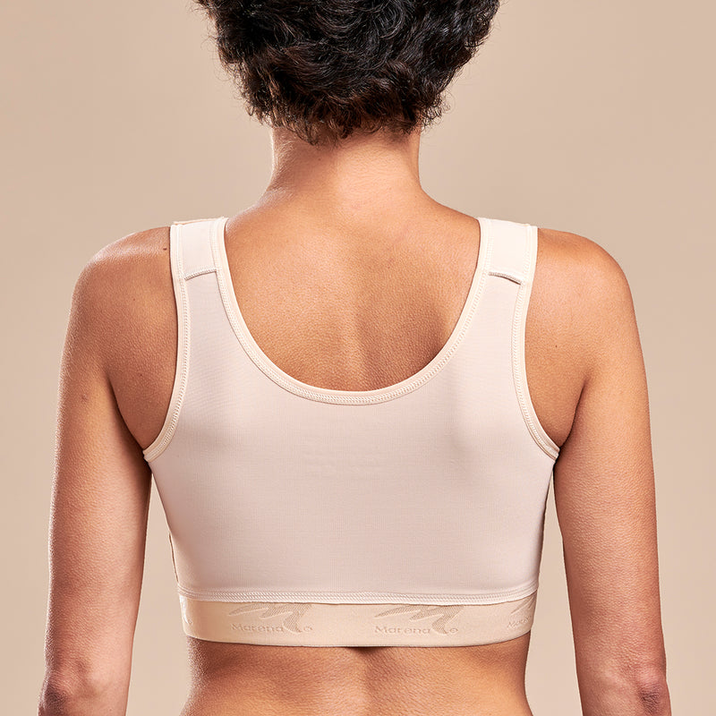 FlexFit™ Implant Stabilizer Bra - Style No. B15 Front view, in beige